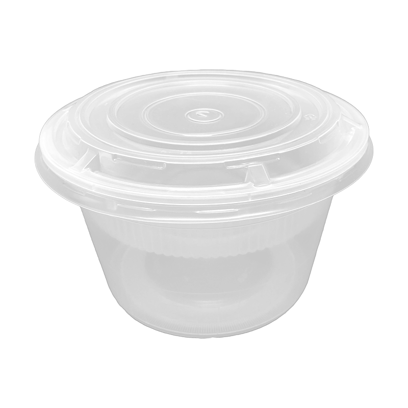 CCF 32OZ(D139MM) Premium PP Injection Plastic Soup Bowl with Lid - 180 Sets/Cases (Microwavable)