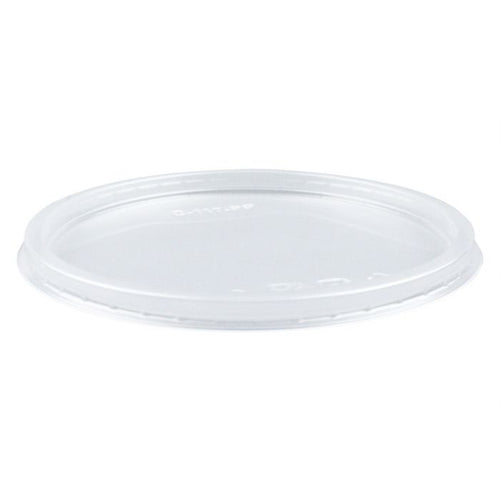 CCF 8-32OZ(D117MM) Deli PET Plastic Flat Lid - 500 Pieces/Case