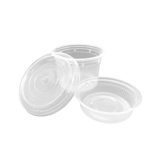 CCF 64OZ(D175MM) Premium PP Injection Plastic Soup Bowl with Insert & Lid - 50 Sets/Cases (Microwavable)