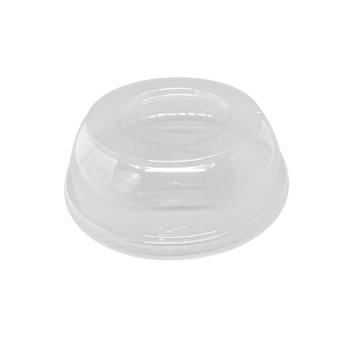 CCF 8-32OZ (D117MM) PET Plastic Dome Lid With No Hole For PET Deli Container