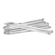 Load image into Gallery viewer, CCF Clear PP Plastic Drink Straws - Single Wrap 7MM Diameter - 2000 Pieces/Case