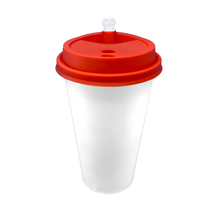 Load image into Gallery viewer, CCF 16-24OZ(D90MM) Premium PP Lid/Heart Stopper For PP Injection Cup - Red 1000 Pieces/Case