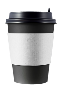 CCF Drink Cup White Paper Sleeve