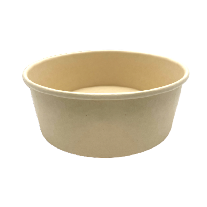 CCF 44OZ(D185MM) 100% Bamboo Fiber Food Bucket/Soup Container (Hot/Cold Use) - 300 Pieces/Case
