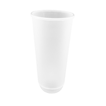 "Load image into Gallery viewer, CCF24OZ(D90MM) Premium PP Injection Plastic ""U"" Style Cup - Frosted 500 Pieces/Case"
