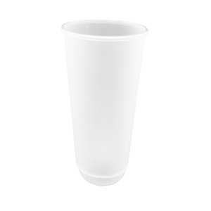 "CCF24OZ(D90MM) Premium PP Injection Plastic ""U"" Style Cup - Frosted 500 Pieces/Case"