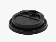 CCF 10-24OZ(D90MM) PP Plastic Lock-Back Lid For Paper Coffee Cup - Black