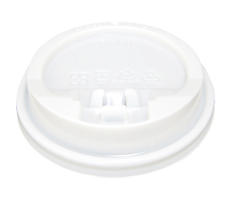 CCF 10-24OZ(D90MM) PP Plastic Lock-Back Lid For Paper Coffee Cup - White