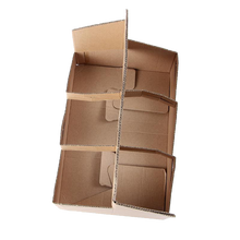 Load image into Gallery viewer, Eco Friendly Heavy Duty Kraft Corrugate Cardboard 6 Cups Carrier - 100 Pieces / Cases