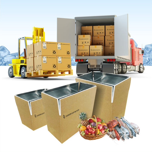 Customized Foldable Cold Chain Insulation Kraft Box (Hot/Cold Use)