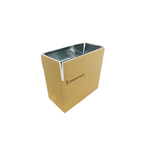 CCF Foldable Cold Chain Insulation Kraft Box #1 (L153MM*W127MM*H165MM) - 10 Pieces/Bulk - $17.50