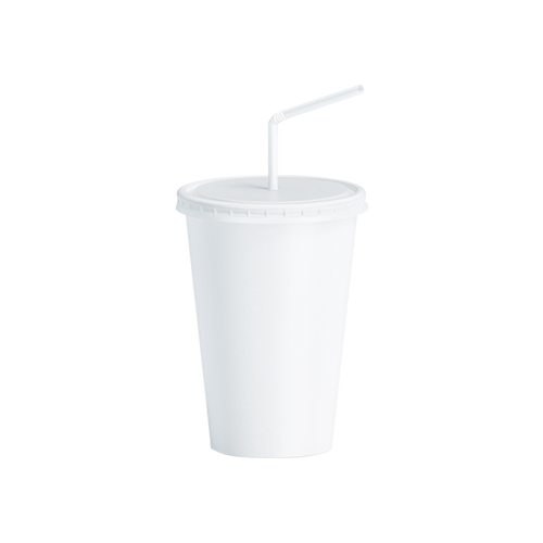 CCF 16OZ Paper Soda Cup - White 1000 Pieces/Case