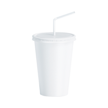 Load image into Gallery viewer, CCF 22OZ Paper Soda Cup - White 1000 Pieces/Case