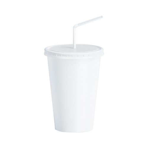 CCF 22OZ Paper Soda Cup - White 1000 Pieces/Case