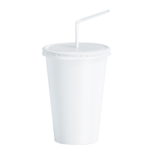 CCF 32OZ Paper Soda Cup - White 600 Pieces/Case