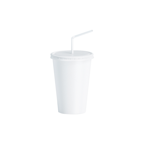 CCF 8OZ Paper Soda Cup - White 1000 Pieces/Case