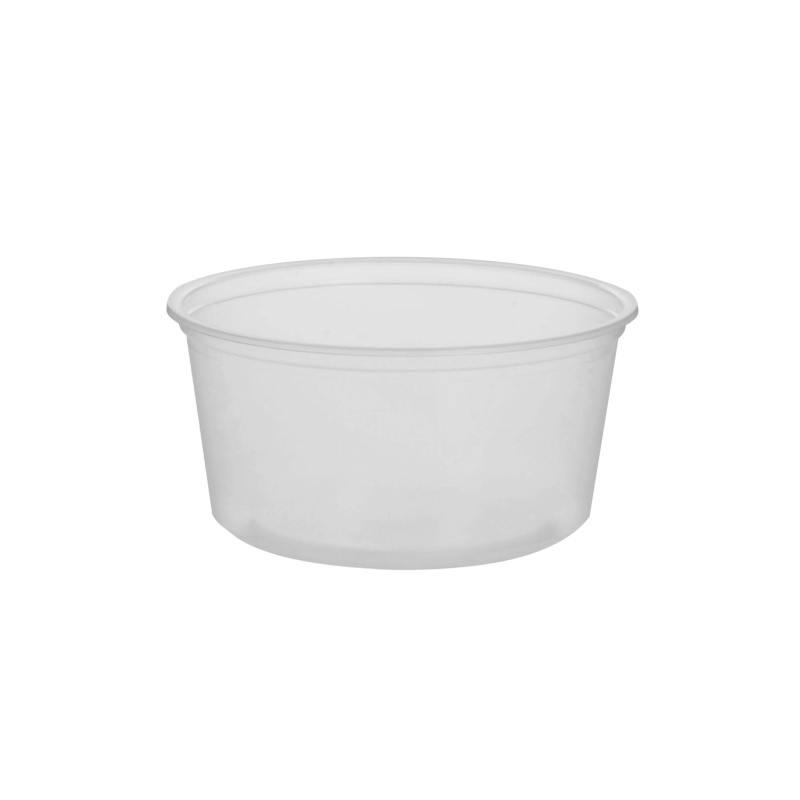 CCF 12OZ(D116MM) PP Plastic Deli Container - 500 Pieces/Case (Microwavable)