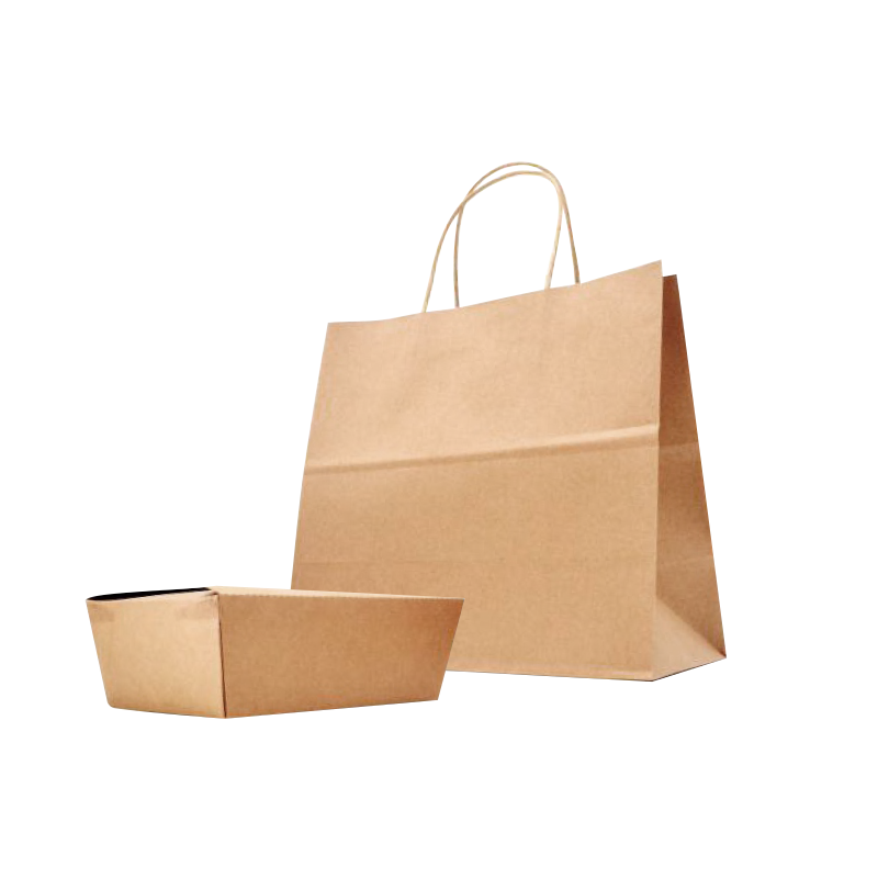 ECO-Friendly Heavy Duty Kraft Paper Shopping Bag #3 - 50 Pieces/Case