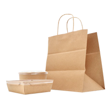Load image into Gallery viewer, ECO-Friendly Heavy Duty Kraft Paper Shopping Bag #3 - 50 Pieces/Case