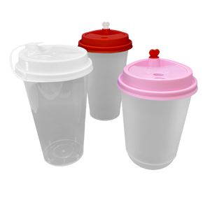 CCF 16-24OZ(D90MM) Premium PP Lid/Heart Stopper For PP Injection Cup - White 1000 Pieces/Case