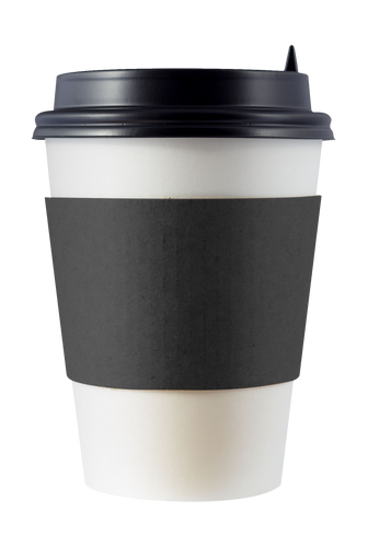 CCF Drink Cup Black Paper Sleeve