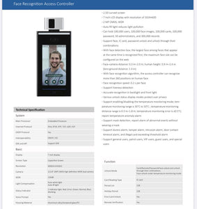 Face Recognition Access Controller - Diamond Solution