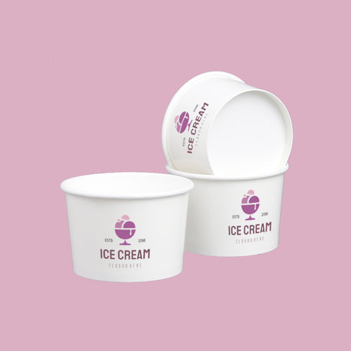Custom Print PLA Lined Ice Cream Cups