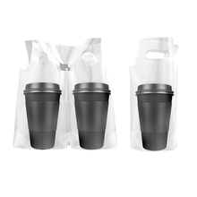 Load image into Gallery viewer, CCF Single Drink Cup Carrier Plastic Bag -1000 Pieces/Case (Made in USA )