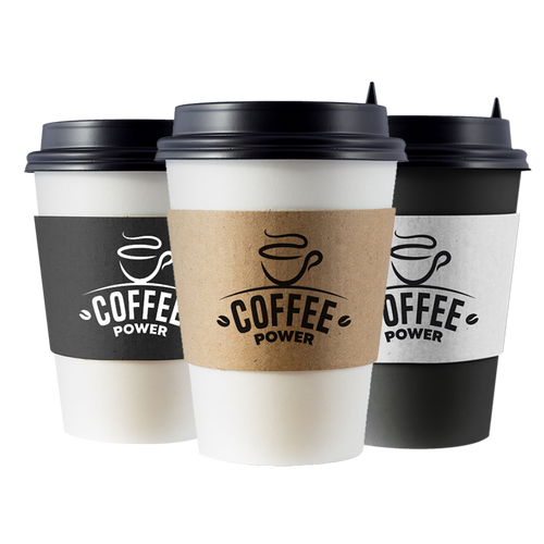 Custom Print Eco Friendly Disposable Corrugated Drink Cup Sleeves