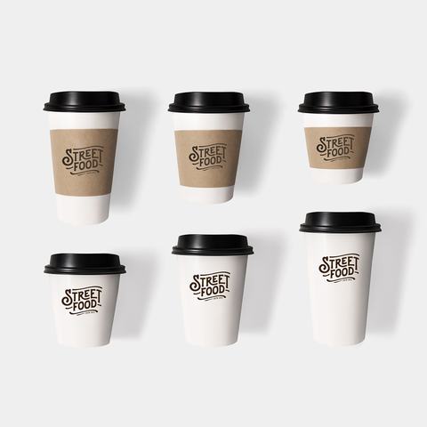 Custom Print Single Wall Paper Coffee Cups