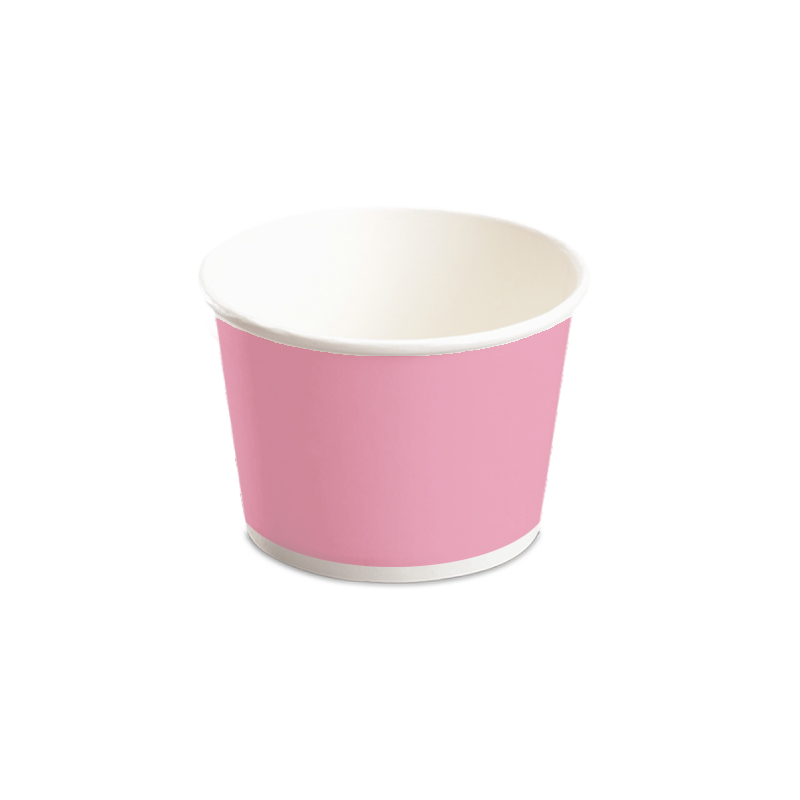 CCF 12OZ(D102MM) Yogurt Paper Cup (Hot/Cold Use) - Pink 1000 Pieces/Case