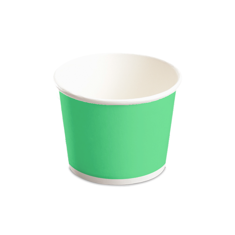 CCF 16OZ(D112MM) Paper Food Bucket (Hot/Cold Use) - Green 1000 Pieces/Case
