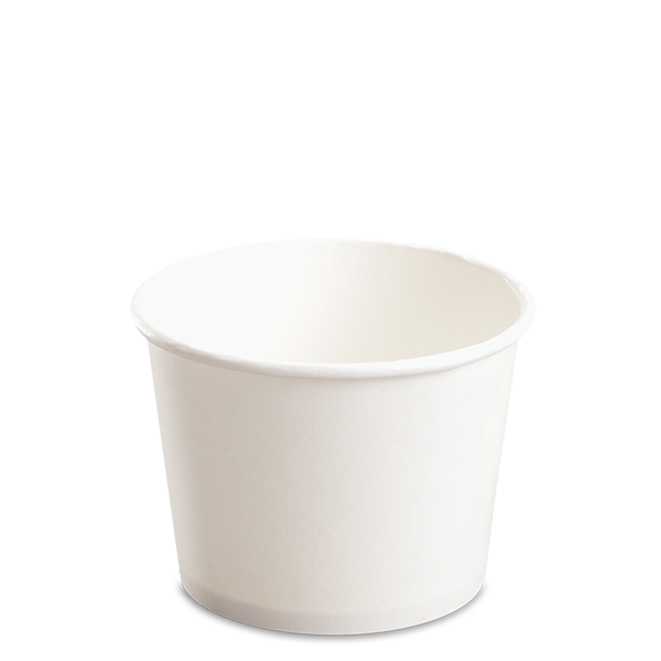 CCF 12OZ(D102MM) Yogurt Paper Cup (Hot/Cold Use) - White 1000 Pieces/Case