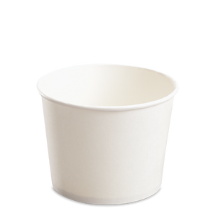 CCF 16OZ(D112MM) Paper Food Bucket (Hot/Cold Use) - White 1000 Pieces/Case