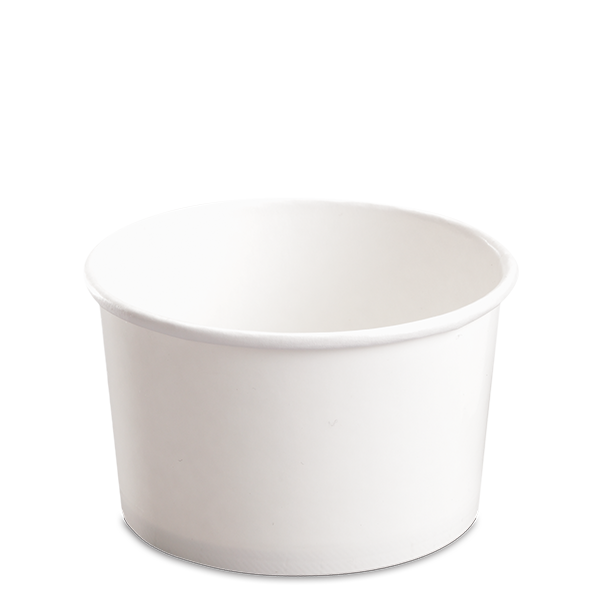 CCF 20OZ(D127MM) Paper Food Bucket (Hot/Cold Use) - White 600 Pieces/Case