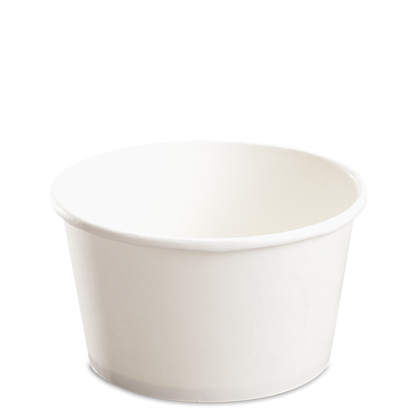 CCF 24OZ(D142MM) Yogurt Paper Cup (Hot/Cold Use) - White 600 Pieces/Case