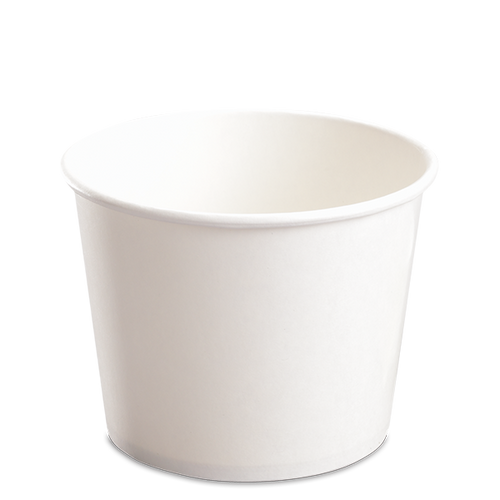 CCF 32OZ(D142MM) Paper Food Bucket (Hot/Cold Use) - White 600 Pieces/Case
