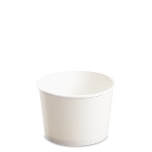 CCF 8OZ(D90MM) Yogurt Paper Cup (Hot/Cold Use) - White 1000 Pieces/Case