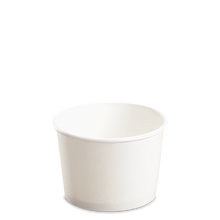Load image into Gallery viewer, CCF 8OZ(D90MM) Paper Food Buckets (Hot/Cold Use) - White 1000 Pieces/Case