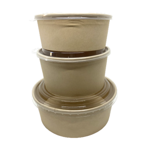 CCF 24OZ(D148MM) 100% Bamboo Fiber Food Bucket/Soup Container (Hot/Cold Use) - 600 Pieces/Case
