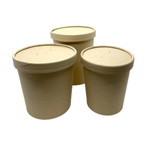 16OZ(D96MM) 100% Bamboo Fiber Soup Container (Hot/Cold Use) - 500 Pieces/Case