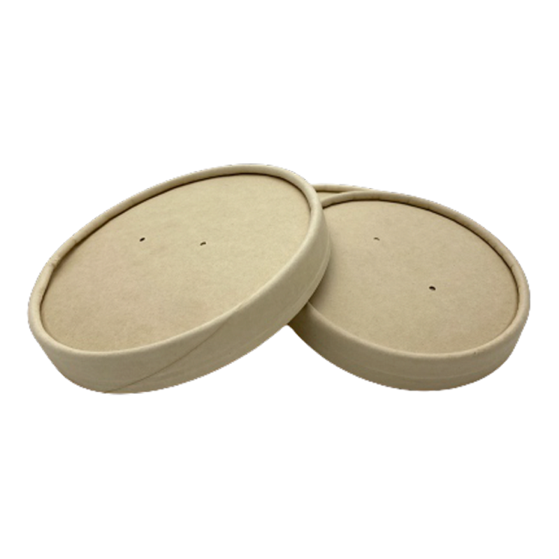 26/32OZ(D115MM) 100% Bamboo Fiber Soup Container Lid (Hot/Cold Use) - 500 Pieces/Case