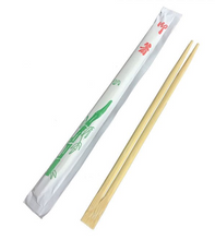 Load image into Gallery viewer, CCF Bamboo Chopsticks With Paper Wrap