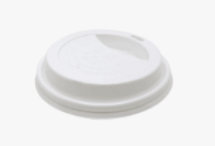 CCF 8OZ(D80MM) PP Plastic Sipper Lid For Paper Coffee Cup - White
