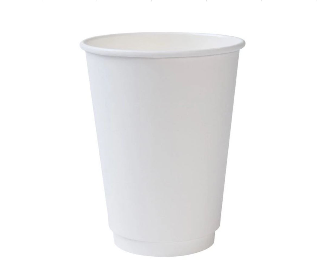CCF 8OZ Double Air Wall Paper Coffee Cup - White 500 Pieces/Case