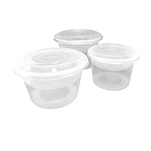 Load image into Gallery viewer, CCF 64OZ(D175MM) Premium PP Injection Plastic Soup Bowl with Lid - 120 Sets/Cases (Microwavable)