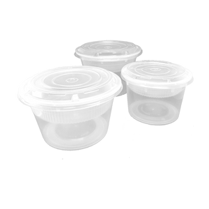 CCF 48OZ(D175MM) Premium PP Injection Plastic Soup Bowl with Insert & Lid - 50 Sets/Cases (Microwavable)