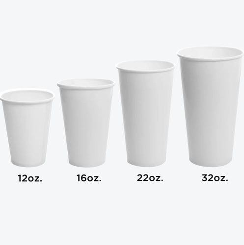CCF 12OZ Paper Soda Cup - White 1000 Pieces/Case