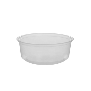 CCF 8OZ(D116MM) PP Plastic Deli Container - 500 Pieces/Case (Microwavable)