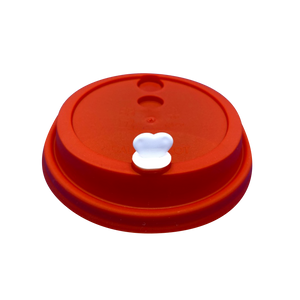 CCF 16-24OZ(D90MM) Premium PP Lid/Heart Stopper For PP Injection Cup - Red 1000 Pieces/Case